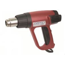 Pistol cu aer cald 2000 W 630 grade celsius display electronic Raider Power Tools