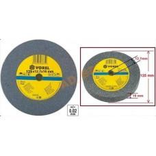 Disc abraziv pentru polizor de banc 125x12x15 mm VOREL