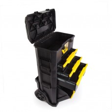 Atelier mobil cu cutie si dispozitiv de inchidere prin atingere si sertar STANLEY