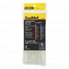 Adeziv tip baton transparent 11 mm x 100 mm 6 bucati STANLEY