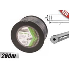 Rezerva de guta 2.4 mm x 260 m cu  profil rotund si insertie metalica pentru motocoase