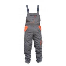 Pantalon cu piept gri portocaliu L Top Strong