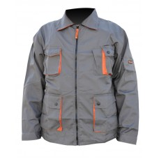 Jacheta de protectie gri portocaliu L Top Strong