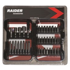 "Biti 1/4"" x 25 & 50 mm Raider Power Tools set 37 piese"