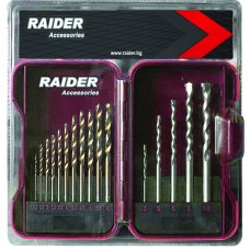 Set 17 burghie HSS combinate metal si beton 1.5 - 10 mm Raider