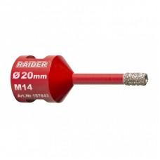 RAIDER Carota diamantata polizor unghiular prindere M14 diametru 20x35 mm