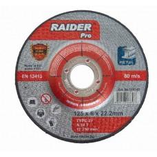Disc abraziv pentru slefuit metal 230х6х22.2mm RAIDER