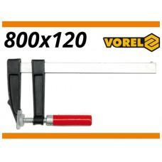 Presa pentru lemn 120 mm x 800 mm VOREL