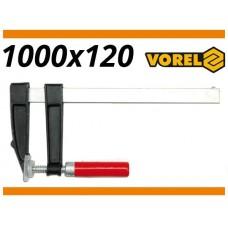 Presa pentru lemn 120 mm x 1000 mm VOREL