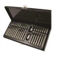 Biti torx hex si spline Topmaster Profesional 40 pcs in cutie de metal