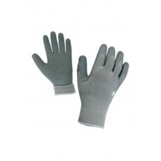 Manusi de protectie gri semiacoperite latex cu manson elastic alb Top Strong