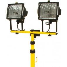 Lampa halogen 2 spoturi x 400 W cu suport VOREL