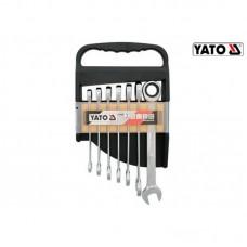 Set 7 chei combinate cu clichet 10-19 mm YATO