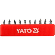 Set 10 biti cruce PH0x25 mm YATO