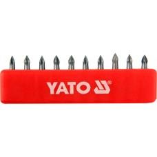 Set 10 biti cruce PH0x25 mm YATO