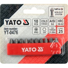 Set 10 biti cruce PH3x25 mm YATO