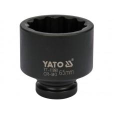 "Cheie tubulara bihexagonala de impact 1"" de 65 mm YATO"