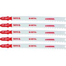 Lame bimetalice pentru fierastrau pendular 5 buc 10 TPI 130 mm YATO