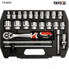 Trusa de chei tubulare cu antrenor 1/2 Yato YT-3873