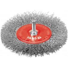 Perie rotunda inox fir nerasucit bormasina diametru 100 mm YATO