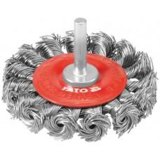 Perie rotunda inox fir rasucit bormasina diametru 75 mm YATO
