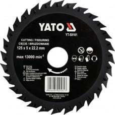 Disc circular raspel pentru lemn 125x22.2 mm YATO