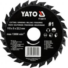 Disc circular raspel pentru lemn 115x5x22.2 mm tip 1 YATO