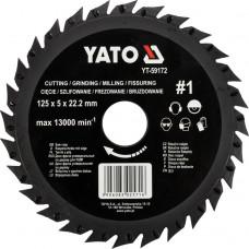Disc circular raspel pentru lemn 125x5x22.2 mm tip 1 YATO