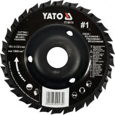 Disc circular raspel depresat pentru lemn 125x5x22.2 mm tip 1 YATO