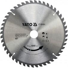 YATO Disc circular pentru lemn 250 x 30 x 2.4 T48