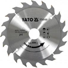 Disc circular pentru lemn 190x30x3.2 mm 20T YATO