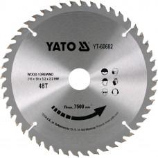 Disc circular pentru lemn 216x30x3.2 mm 48T YATO
