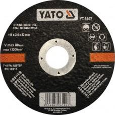 Disc debitat metale 115x2.5x22 mm YATO