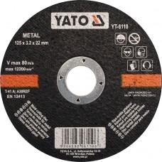 Disc debitat metale 125x3.2x22 mm YATO