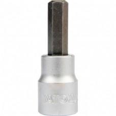 Bit imbus hexagonal numar 3 cu adaptor 3/8 50 mm YATO