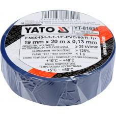 Banda electroizolanta PVC 19 mm x 20 m x 0.13 mm albastra YATO