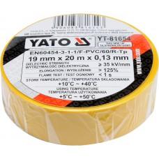 Banda electroizolanta PVC 19 mm x 20 m x 0.13 mm galbena YATO