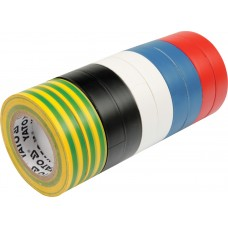 Set 10 benzi izolatoare PVC 19 mm x 20 m x 0.13 mm YATO