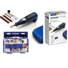 DREMEL 7700-30 Minifreza cu acumulator + set accesorii MULTI 687 F0137700KN