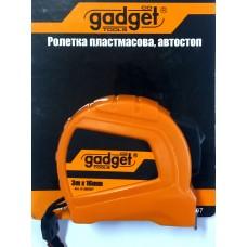 GADGET Ruleta carcasa ABS cu autostop 16mm x3.0m
