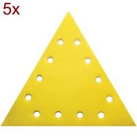 RAIDER Set 5 bucati smirghel VELCRO triunghiular 285mm grit 180