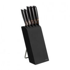 FISKARS EDGE Set cinci cutite cu suport negru otel inoxidabil