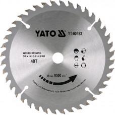 YATO Disc circular pentru lemn 170 x 16 x 2.2 T40