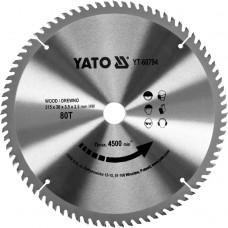 YATO Disc circular pentru lemn 315 x 30 x 3.5 T80